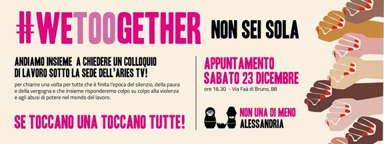 23.12.2017 – #Wetoogether, Non sei sola! Presidio sotto la sede di Aries TV