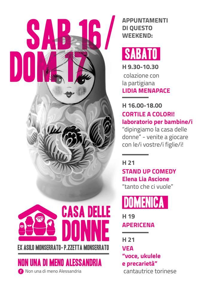 16.6.2018 – Gli appuntamenti del primo weekend alla Casa delle Donne!