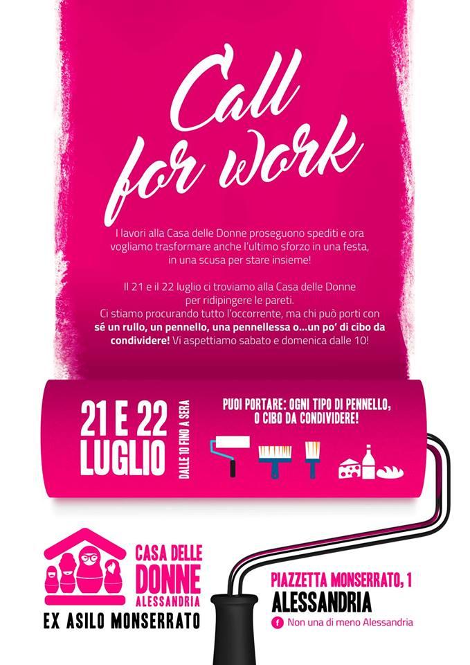 21.7.2018 – Call for work per ristrutturare la Casa delle Donne!