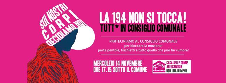 14.11.2018 – Tutte/i in Consiglio Comunale per difendere la legge 194 e il diritto all'aborto!