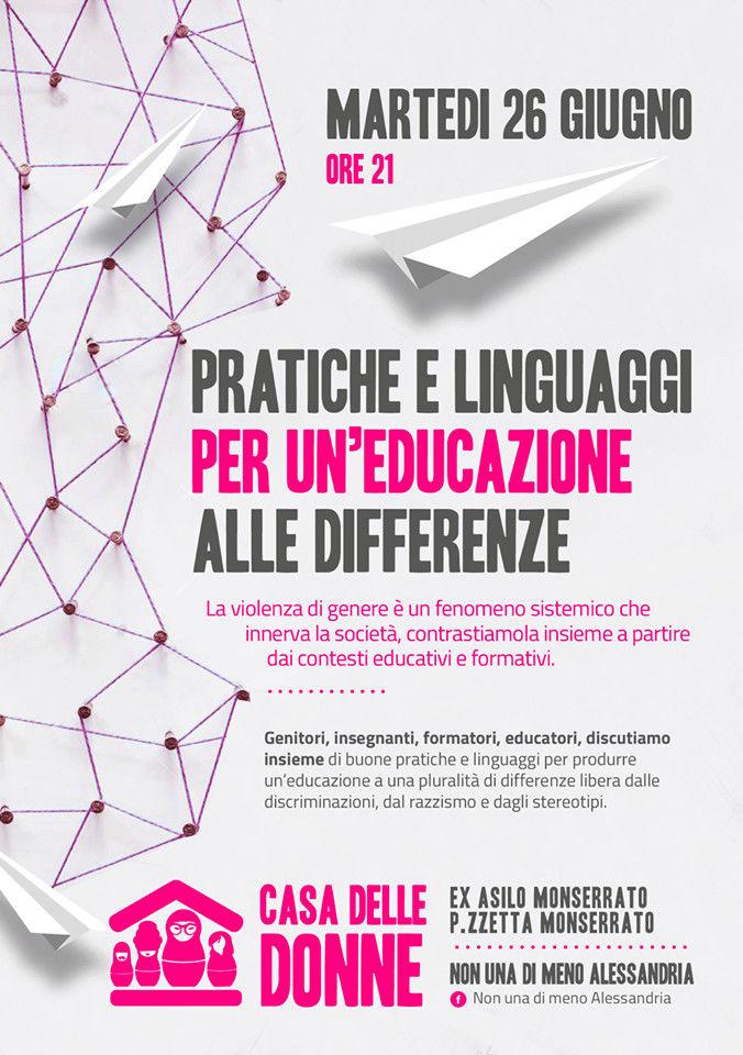 """26.6.2018 – Assemblea pubblica """"Pratiche e linguaggi per un'educazione alle differenze"""""""