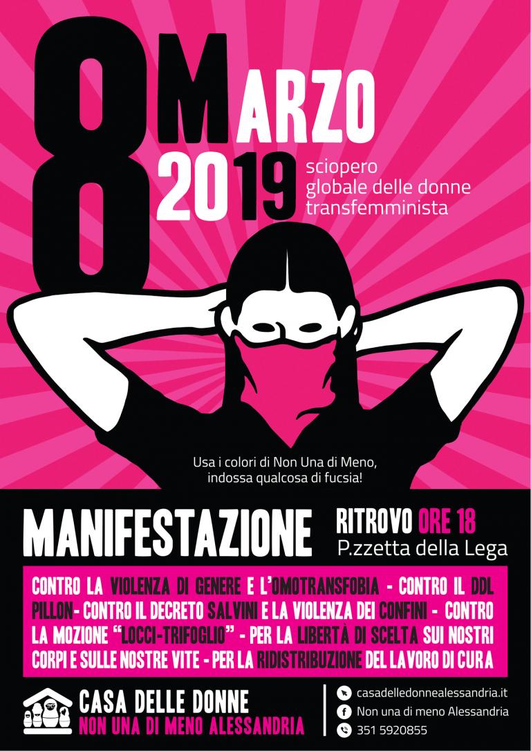 8.3.2019 – Lo sciopero globale delle donne arriva ad Alessandria!