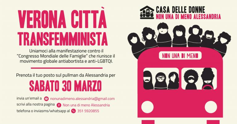 Sabato 30 marzo tutt* a Verona per la Città Transfemminista, contro il Congresso Mondiale delle Famiglie!