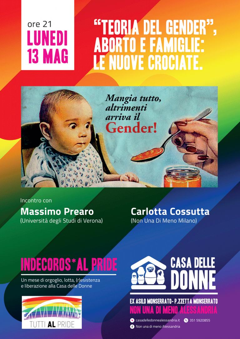 """13.5.2019 – """"Teoria del gender"""", aborto e famiglie: le nuove crociate"""