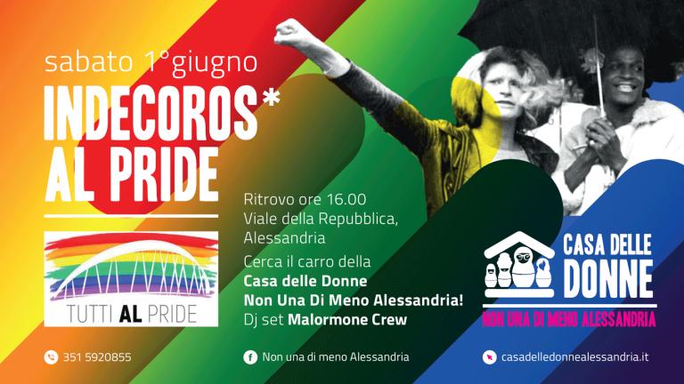 Appuntamento sabato 1° giugno alle ore 16 in Viale della Repubblica per il primo Alessandria Pride!