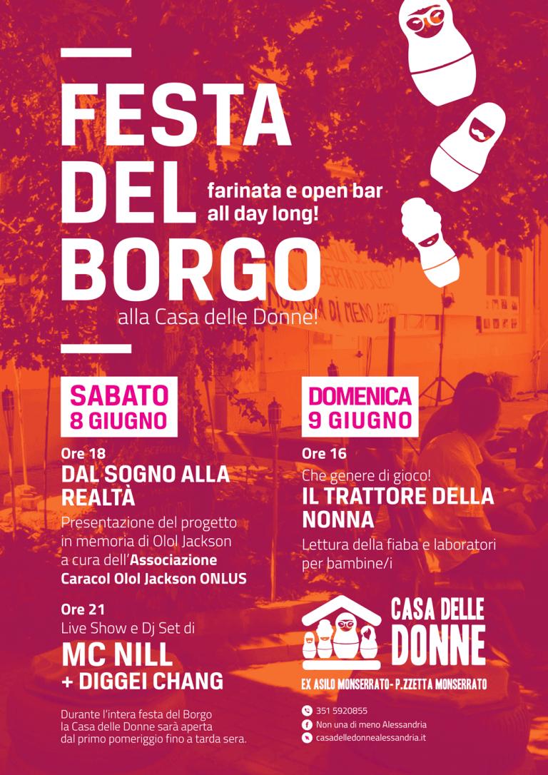 8 – 9 giugno: Festa del Borgo alla Casa delle Donne!