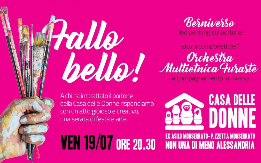 """Venerdì 19 luglio, """"Fallo bello!"""". Live painting e musica"""