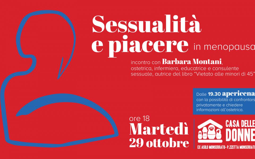 Martedì 29 ottobre un evento dedicato a sessualità e piacere in menopausa