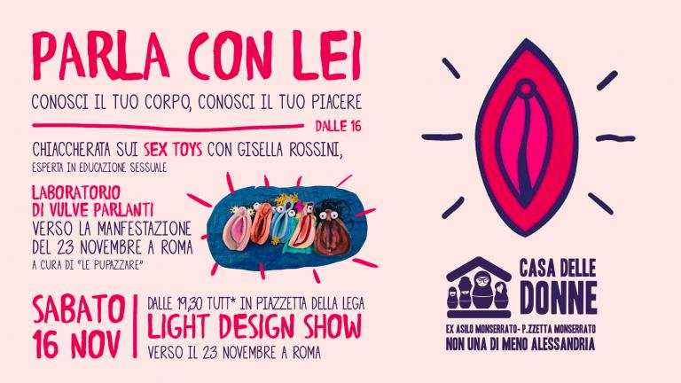 """""""Parla con lei"""" e light design show verso il 23 novembre"""