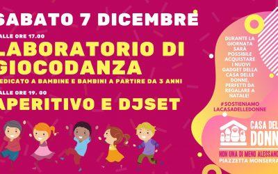 Laboratorio di Giocodanza per bambine e bambini sabato 7 dicembre